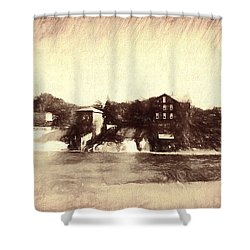 Vergennes Falls, Vt 2015 Shower Curtain