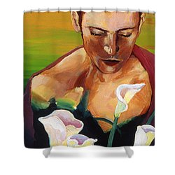 Vergil's Dawn Shower Curtain by Rene Capone