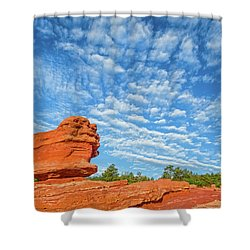 Vermillion Is The Color Of The Rock.  Shower Curtain