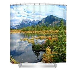 Vermillion Kaleidoscope  Shower Curtain
