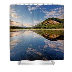 Vermilion Reflections Shower Curtain