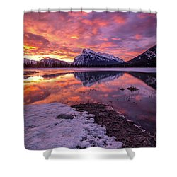 Vermillion Splendour Shower Curtain