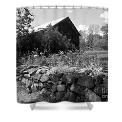 Vermont Barn And Stone Wall Shower Curtain