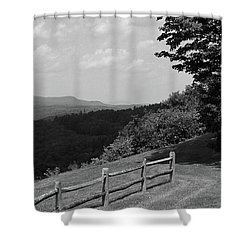 Shower Curtain featuring the photograph Vermont Countryside 2006 Bw by Frank Romeo