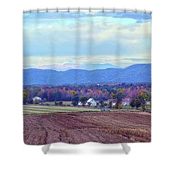Vermont Countryside In Autumn Shower Curtain by Catherine Sherman