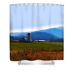 Vermont Farm Shower Curtain by Bill Cannon