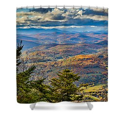 Vermont Foliage From Mt. Ascutney Shower Curtain