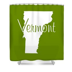 Vermont In White Shower Curtain