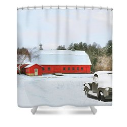 Shower Curtain featuring the digital art Vermont Memories by Sharon Batdorf