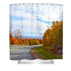 Vermont Mountain Road Shower Curtain by Catherine Sherman