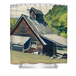 Vermont Sugar House Shower Curtain by Edward Hopper