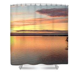Shower Curtain featuring the photograph Vermont Sunset, Lake Champlain by Felipe Adan Lerma