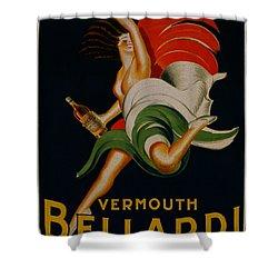 Vermouth Bellardi Torino Vintage Poster Shower Curtain