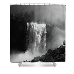 Vernal Fall And Mist Trail Shower Curtain