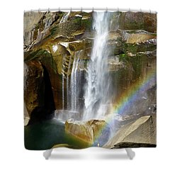 Vernal Falls Mist Trail Shower Curtain by Amelia Racca