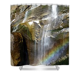 Vernal Falls Rainbow And Plants Shower Curtain