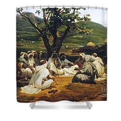 Vernet: Arab Tale-teller Shower Curtain by Granger