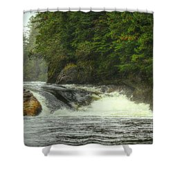 Shower Curtain featuring the photograph Verney Falls, British Columbia by Myrna Bradshaw