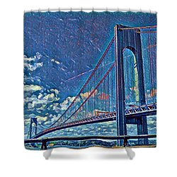 Verrazano Bridge Shower Curtain
