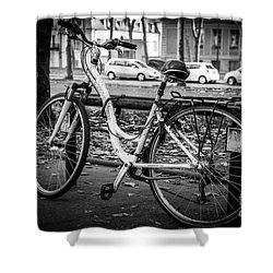 Versailles Bicycle Shower Curtain