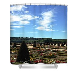 Versailles Palace Gardens Shower Curtain by Therese Alcorn