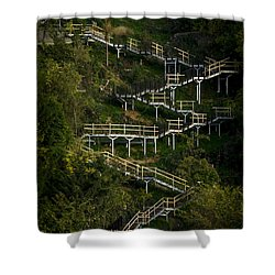 Vertical Stairs Shower Curtain