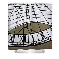 Vertical Sundial - Vertikale Sonnenuhr Shower Curtain