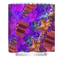 Shower Curtain featuring the digital art Vertigo by Lyle Hatch