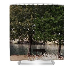 Very Inviting Shower Curtain by Kim Henderson