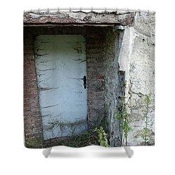 Very Long Locked Door Shower Curtain