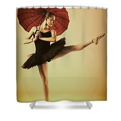 Very Pointey And Warm Shower Curtain