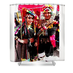 Very Proud Bolivian Dancers Shower Curtain