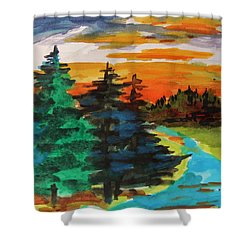 Very Quiet Shower Curtain by John Williams