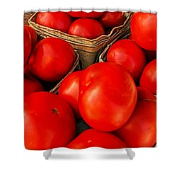 Very Red Tomatoes Shower Curtain