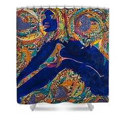 Vesica  Pisces Shower Curtain