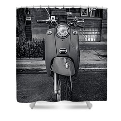Shower Curtain featuring the photograph Vespa by Sebastian Musial