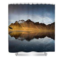 Vestrahorn Panao Shower Curtain by Allen Biedrzycki
