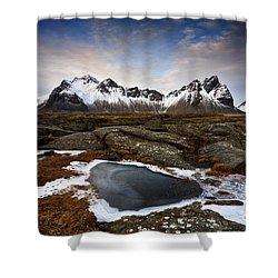Vestrahorn Shower Curtain by Roddy Atkinson