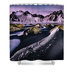 Vestrahorn, South Iceland Shower Curtain