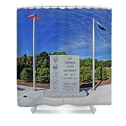 Veterans Freedom Park, Cary Nc. Shower Curtain by George Randy Bass