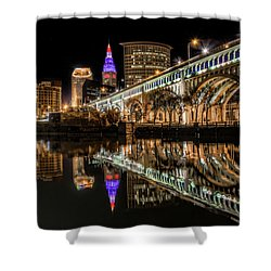 Veterans Memorial Bridge Shower Curtain by Brent Durken
