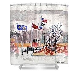 Veteran's Memorial Park Shower Curtain