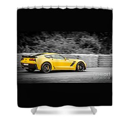 Vette In Anger Shower Curtain