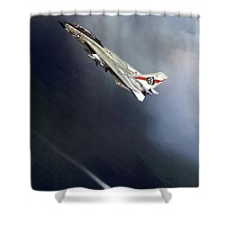 Vf-41 Black Aces Shower Curtain by Peter Chilelli