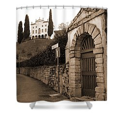 Via Fosse Shower Curtain by Donna Corless