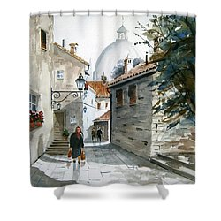 Via Coronari Shower Curtain