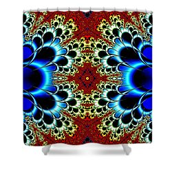Vibrancy Fractal Cell Phone Case Shower Curtain by Lea Wiggins