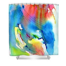 Vibrant Colorful Abstract Watercolor Painting Shower Curtain by Carlin Blahnik
