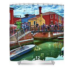 Vibrant Dreams Floating In The Air Shower Curtain