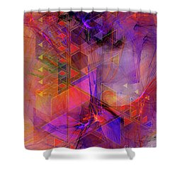 Vibrant Echoes Shower Curtain by John Beck